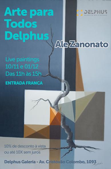 3 Edição do projeto Arte para Todos Delphus recebe Ale Zanonato
