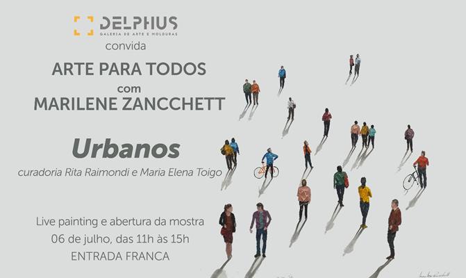 Projeto Arte para Todos Delphus recebe Marilene Zancchett